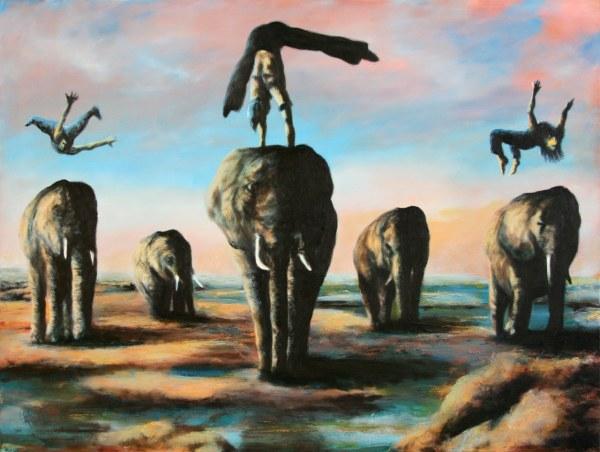 Elephantastic original Ölgemälde von Crash