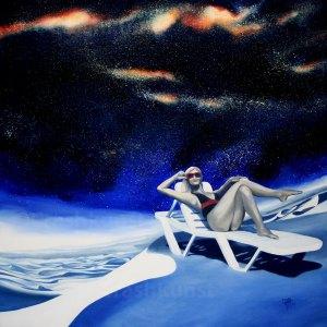 space vacation, surreales gemälde