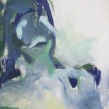 Kopf Blau Grün, Acryl auf Leinwand 50x65cm