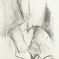 Tanzende Schuhe, Kohle und Tusche auf Papier 60x85cm