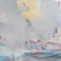 Herbstflut, Acryl auf Leinwand 45x58cm