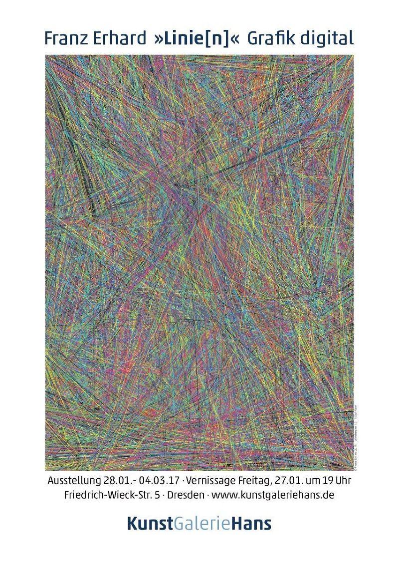 Franz Erhard Ausstellung Linie[n] Plakat