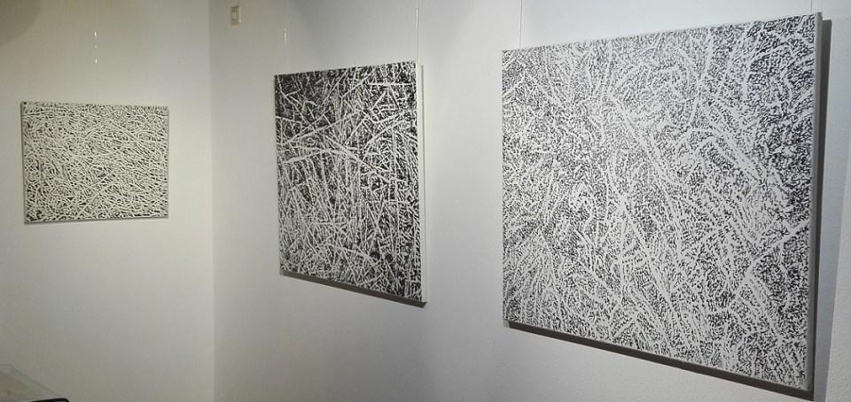 Elena Gluth - Werke der Serie ALPHA - permanent marker on canvas