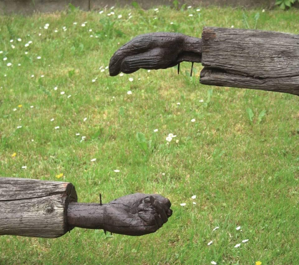 Hanno Wilden - Christus linke und rechte Hand 2015, KunstGalerieHans