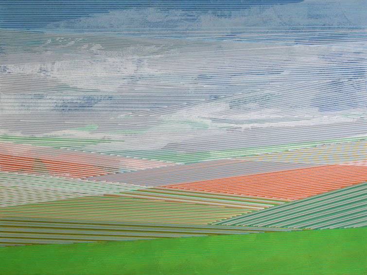 Michael Kirsch - Landschaft 02 (2018) Acryl auf Malplatte 80 x 60 cm web