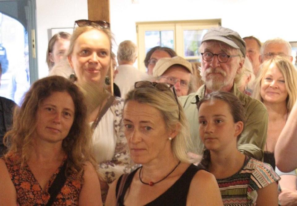 Vernissage Köpfe-Ausstellung 5.7.18 KunstGalerieHans