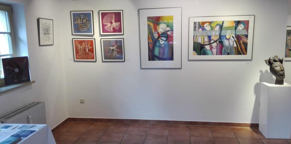Arbeiten von Linda Jarlskog und Erika Walther in der KunstGalerieHans Dresden