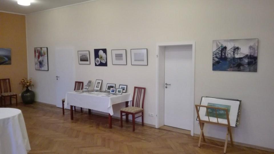 Blick in die Ausstellung von Thomas Went im Elbhangtreff Dresden-Niederpoyritz 2020 (2)