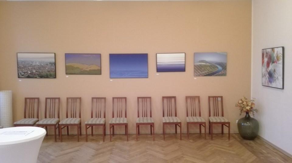 Blick in die Ausstellung von Thomas Went im Elbhangtreff Dresden-Niederpoyritz 2020
