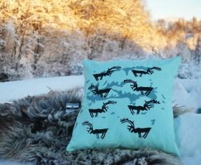 Reindeer landscape by Anja Veronica Hanssen