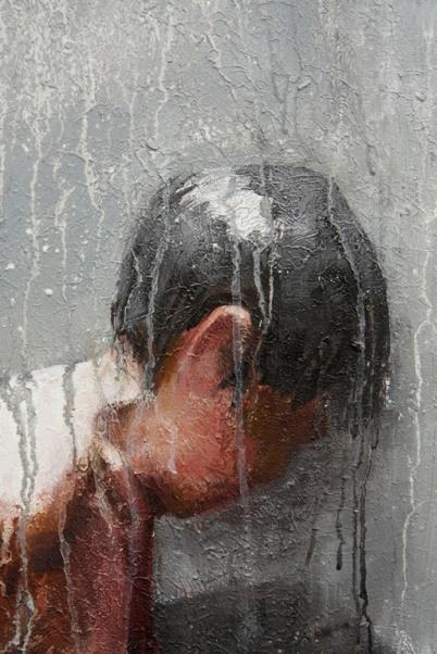 Guus Verzellenberg, douche, 2013 serie reminiscenties