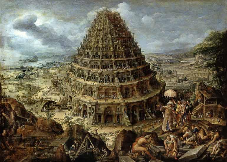 Bild: Maerten van Valckenborch - Der Turmbau zu Babel