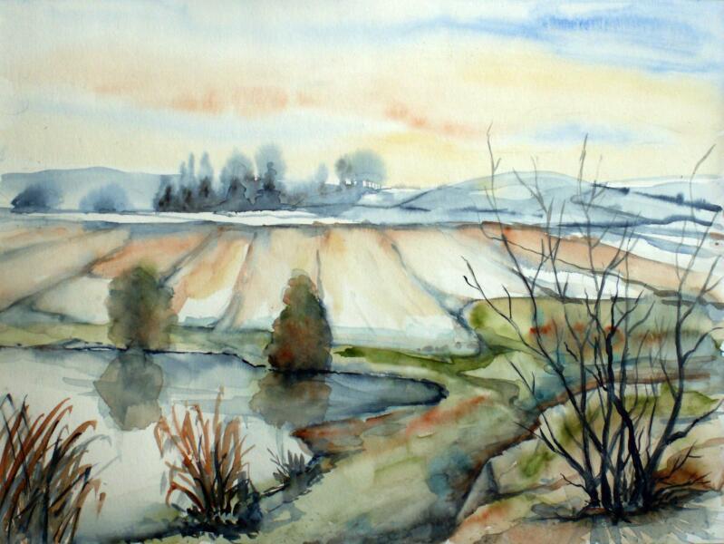 Landschaft Landschaft Aquarellmalerei Aquarell Von