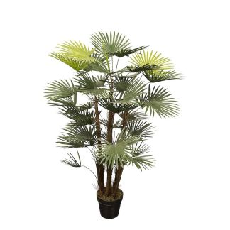 HTT Decorations - Kunstplant Rhapis palm (120 cm) - Kunstplantshop.nl