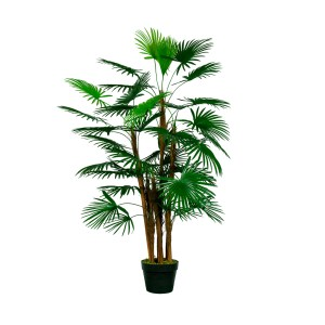 HTT Decorations - Kunstplant Rhapis palm H120cm - kunstplantshop.nl