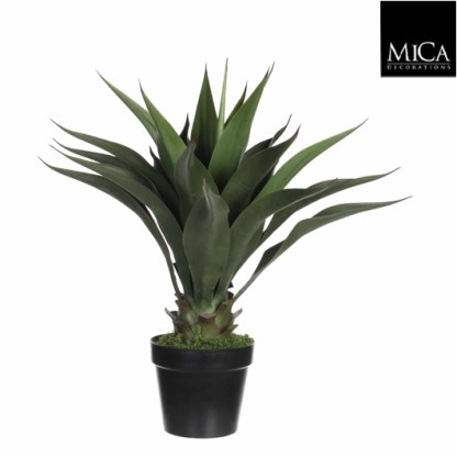 Mica kunstplant Agave in pot groen (H60xD25cm) - Kunstplantshop.nl