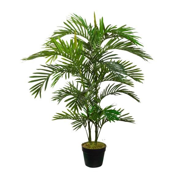 HTT Decorations - Kunstplant Areca palm H120 cm - kunstplantshop.nl