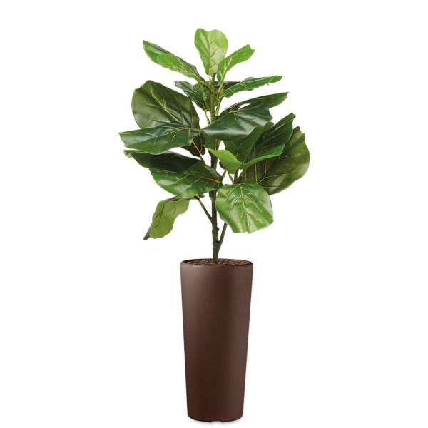 HTT - Kunstplant Ficus Lyrata in Clou rond bruin H115 cm - kunstplantshop.nl