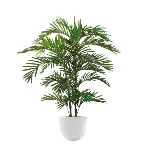 HTT - Kunstplant Areca palm in Eggy wit H130 cm - kunstplantshop.nl