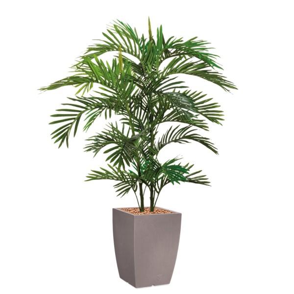 HTT - Kunstplant Areca palm in Genesis vierkant taupe H150 cm - kunstplantshop.nl