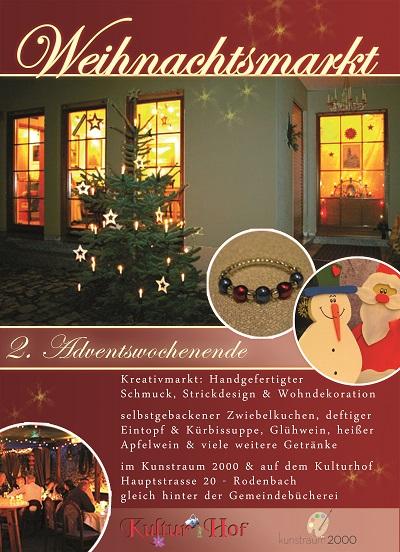Weihnachtsmarkt - Kulturhof Kunstraum 2000 Rodenbach