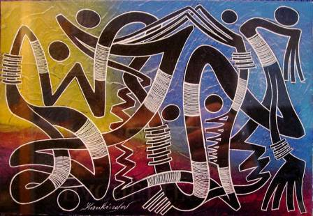 Ein Bild des kongolesischen Künstlers José Kankinda