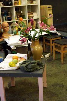 Auch das Zeichnen und Malen von Stillleben gehörten zum Inhalt des Workshops.