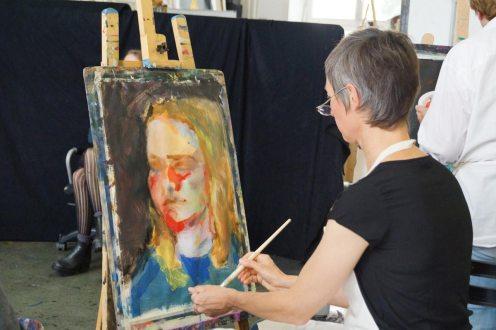 Porträts mit Acrylfarbe