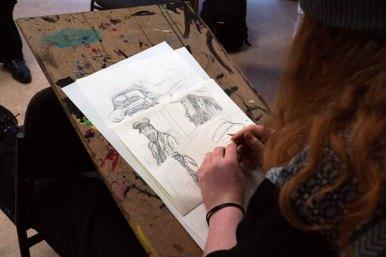 Skizzen mit Bleistift