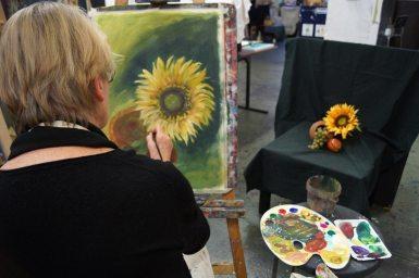 Stillleben mit Sonnenblume
