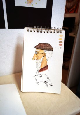 Portrait mit Copics