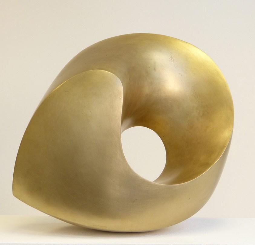 """""""Wirbel"""", Bronze, 2019, 42 x 38 x 25 cm"""