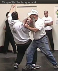Application of a basic silat entering elbow from Djurus One