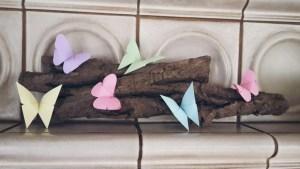 Kreative Frühlingsdeko mit Treibholz und Origami