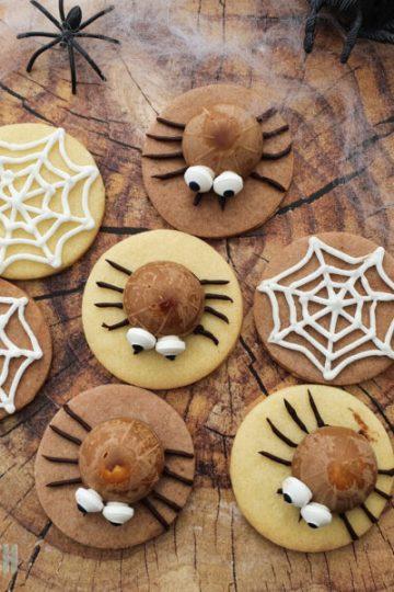 Halloween Kekse Spinnen Toffifee