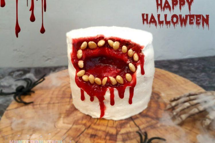 Halloween Kuchen Mandeln Marmelade