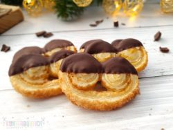 Mini-Schweinsöhrchen Blätterteig Zartbitterschokolade