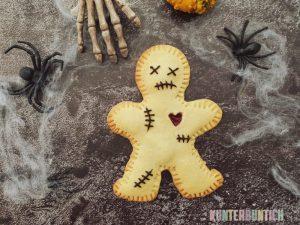 Voodoo-Keks aus Mürbteig mit Marmeladenfüllung