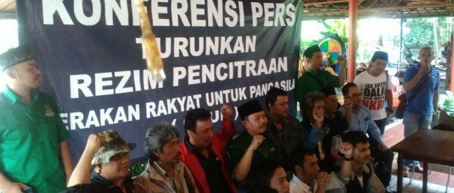 Konferensi Pers GRUP di bilangan Taman Topi, kota Bogor (dok. KM)