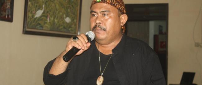 Heri Ortega ketika mendeklarasikan dirinya maju di Pilkada Serentak 2018, disela-sela perhelatan HUT nya ke 48 tahun (dok. KM)