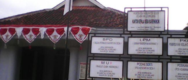 Kantor Kepala Desa Barengkok, Kecamatan Leuwiliang, Kab. Bogor (dok. KM)