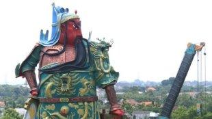 Patung Kwan Seng Tee Koen atau Kwan Kong di Tuban, Jawa Timur (stock)