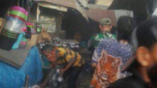 Kebakaran di Pasar Leles, Garut Senin 11/9 (dok. KM)