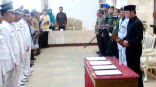 Walikota Bogor Bima Arya Sugiarto saat lantik pejabat eselon III dan IV, 9/2 (dok. KM)