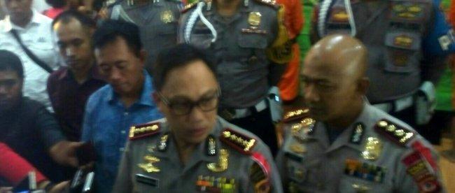 Kapolresta Bogor Kombes Pol Ulung Sampurna Jaya beserta jajarannya saat konferensi pers di Mako Polresta Bogor, Jalan Kapten Muslihat Rabu 14/03/2018 (dok. KM)