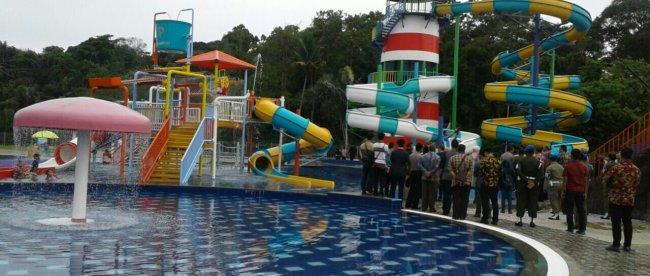 Water Park Pasir Padi Bay di Pangkalpinang saat peresmian oleh Gubernur Bangka Belitung, Jumat 30/3 (dok. KM)