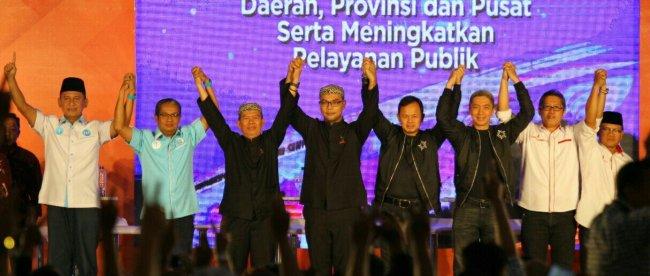 Para Paslon Walikota dan Wakil Walikota Bogor dalam debat kandidat kedua, Kamis 21/6/2018 (dok.KM)