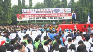 Walikota Bogor Bima Arya di peringatan HAORNAS ke-35 tahun 2018 di lapangan Wira Yudha Pusdikzi Kodiklat TNI AD (dok. KM)