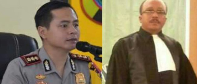 Kapolres nias AKBP Deni Kurniawan dan pengacara Martin Surianto Buaya (dok. KM)
