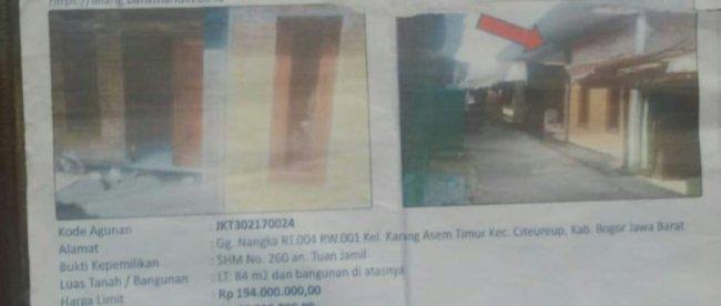 Penyegelan terhadap rumah Elis, warga Kelurahan Karang Asem Timur, Kecamatan Citeureup, Kabupaten Bogor (dok. KM)